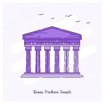 Roman pantheon-tempel oriëntatiepunt