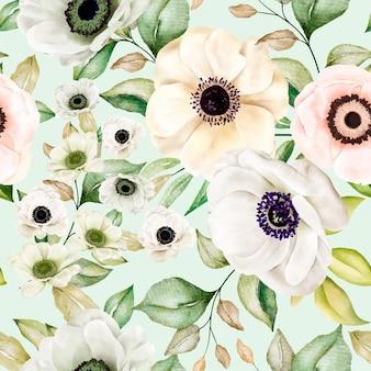 Romantisch bloemen naadloos patroon Gratis Vector