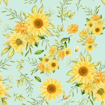 Romantisch bloemenwaterverf naadloos patroon