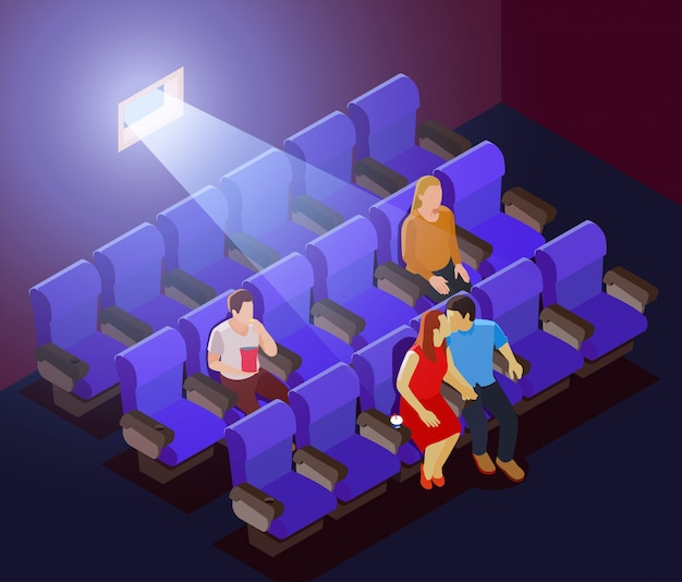 Romantisch daten in de bioscoop