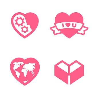 Romantisch icoon ontworpen voor jouw ontwerp