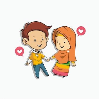 Romantisch moslimpaar