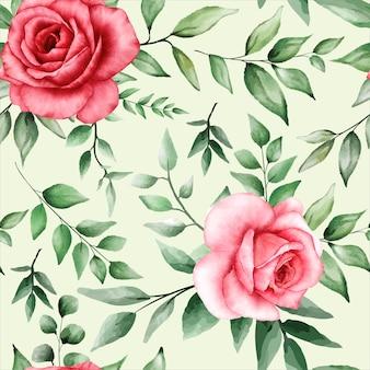 Romantisch naadloos patroon met kastanjebruine bloem