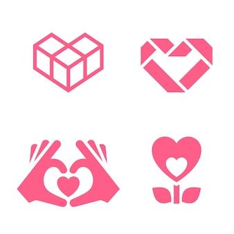 Romantisch pictogram ontworpen