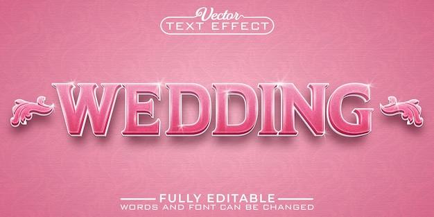 Romantisch roze bruiloft bewerkbare teksteffectsjabloon