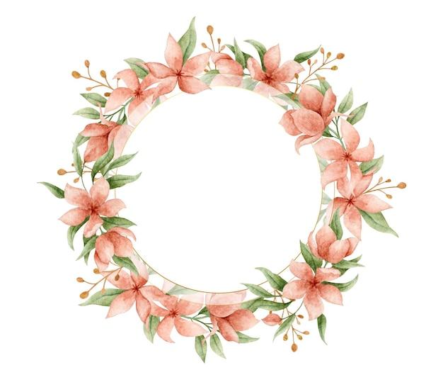 Romantisch schattig bloemenframe