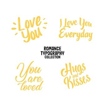 Romantisch typografieontwerp