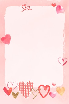 Romantisch valentijnsdag frame in aquarel