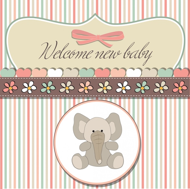 Romantische baby meisje aankondiging kaart