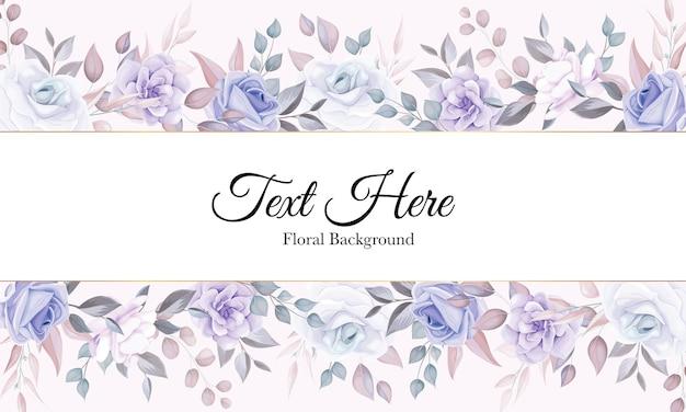Romantische bloemachtergrond met purpere bloemdecoratie