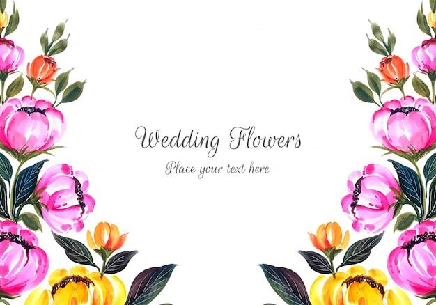 Romantische bruiloft uitnodiging bloemen frame kaart