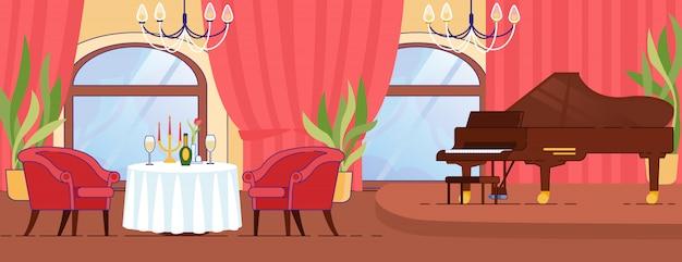 Romantische date in restaurant met luxe interieur