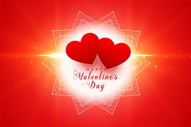 Romantische harten gelukkige valentijnsdag wenskaart