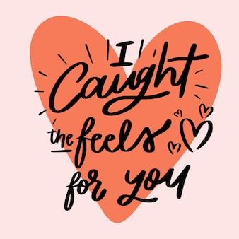 Romantische letters met rood hart