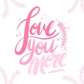 Romantische letters op een witte achtergrond