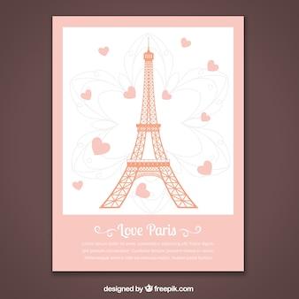 Romantische parijs kaart