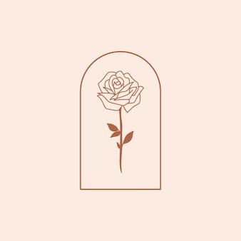 Romantische roos sticker vectorillustratie