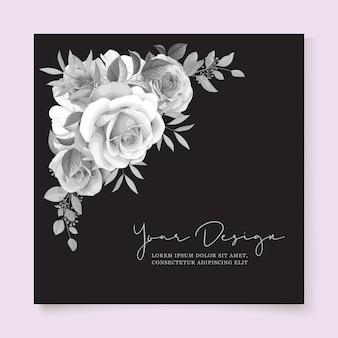 Romantische rozen bruiloft kaart ornament