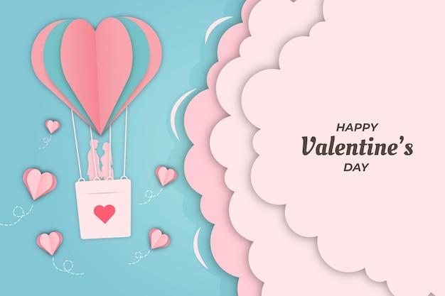 Romantische valentijnsdag luchtschip achtergrond