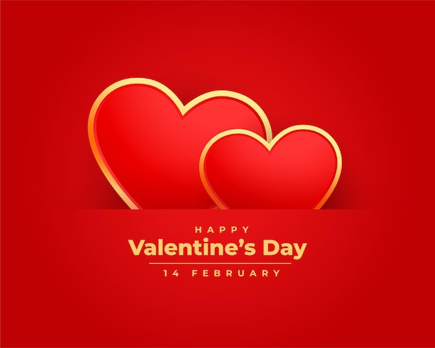 Romantische valentijnsdag wenst kaartontwerp