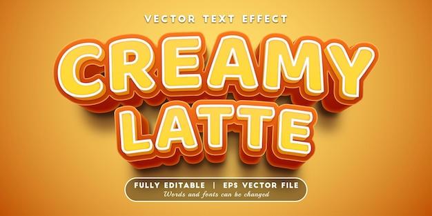 Romig latte-teksteffect met bewerkbare tekststijl