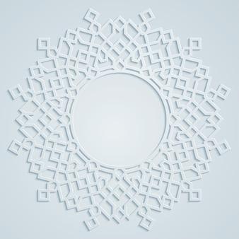 Rond arabisch geometrisch patroon