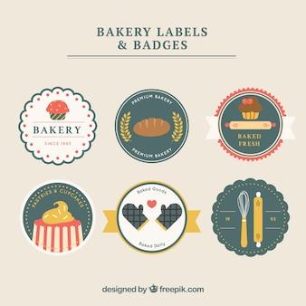 Rond bakkerij etiketten en insignes