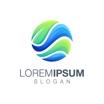 Rond blad inspiratie logo