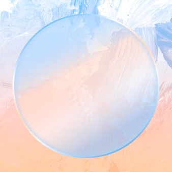 Rond blauw frame op abstracte achtergrond