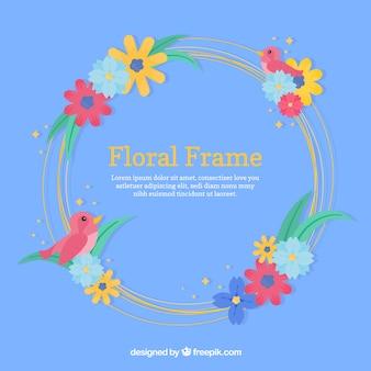 Rond bloemenframe ontwerp