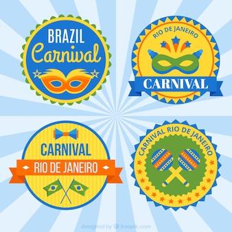 Rond carnaval badges insignes