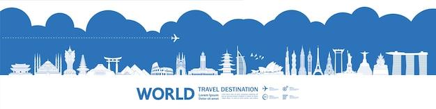 Rond de wereld reisbestemming groots