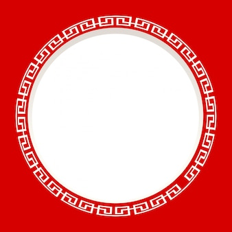 Rond frame op rode achtergrond