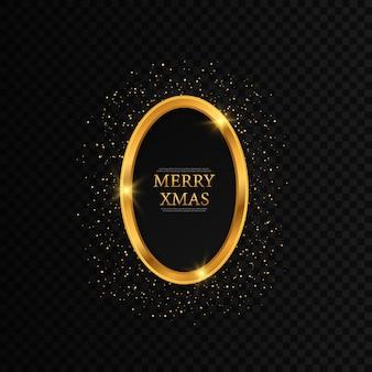 Rond kerstframe met sterren frame merry christmas wenskaart