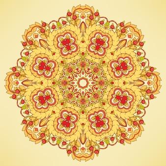 Rond oranje patroon