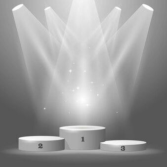 Rond sportpodium - kampioensvoetstuk, winnaarstoekenning