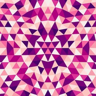 Ronde abstracte geometrische driehoek caleidoscoop mandala achtergrond - vector patroon grafische kunst van kleur driehoeken