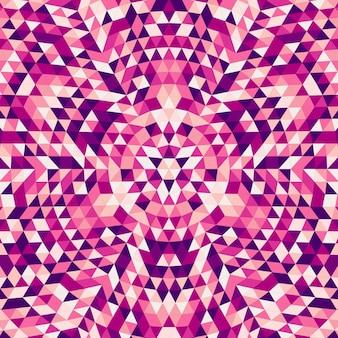 Ronde abstracte geometrische driehoek mandala achtergrond - symmetrische vector patroon ontwerp van kleurrijke driehoeken