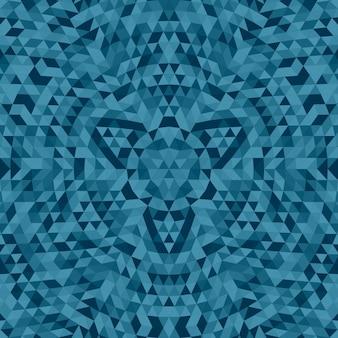 Ronde abstracte geometrische driehoek mandala achtergrond - symmetrische vectorpatroon grafische kunst uit driehoeken