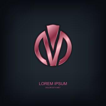 Ronde abstracte sjabloon logo, universele bedrijfstechnologie idee
