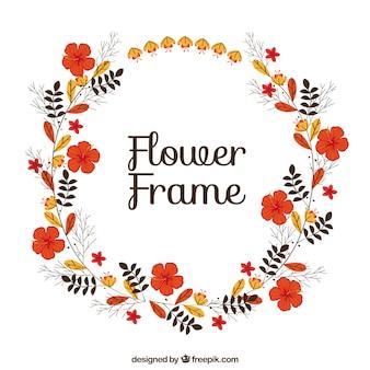Ronde bloemenframe met mooie bloemen