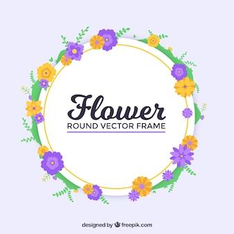 Ronde bloemenframe