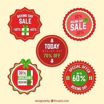 Ronde boksdag verkoop badge