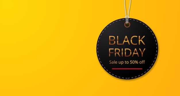 Ronde cirkel prijskaartje label voor zwarte vrijdag