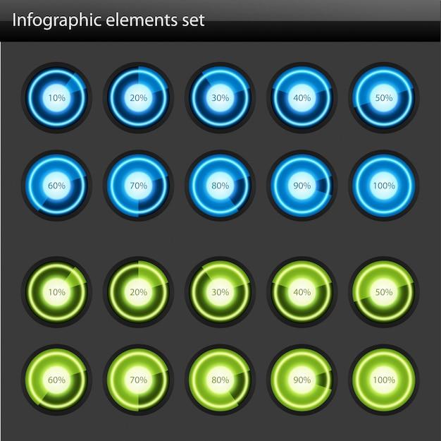 Ronde diagrammen voor infographicsontwerp