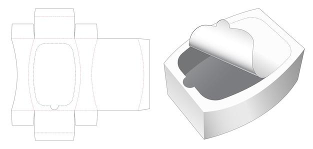 Ronde doos met gestanste sjabloon met ritssluiting aan de bovenkant