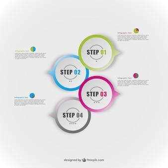 Ronde elementen vector gratis infografie