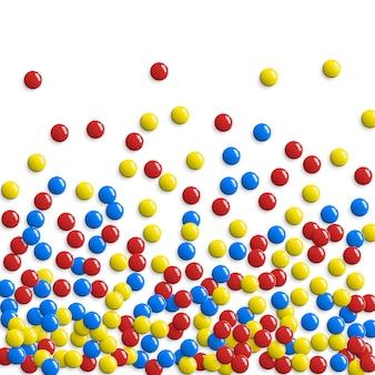 Ronde glanzende knoppen, spel bubbels of zoete snoepjes achtergrond