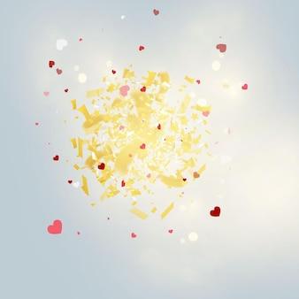 Ronde gouden glitter luxe sprankelende confetti.