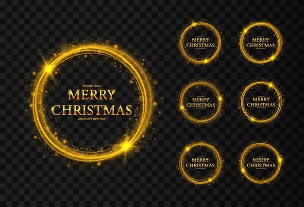 Ronde kerstframes met sterren frames merry christmas